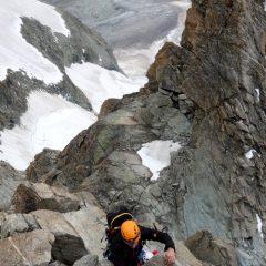 Schöne Kletterpassage nach der Gabel