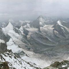 Panorama mit Matterhorn, Obergabelhorn, Dent Herens und Dent Blanche