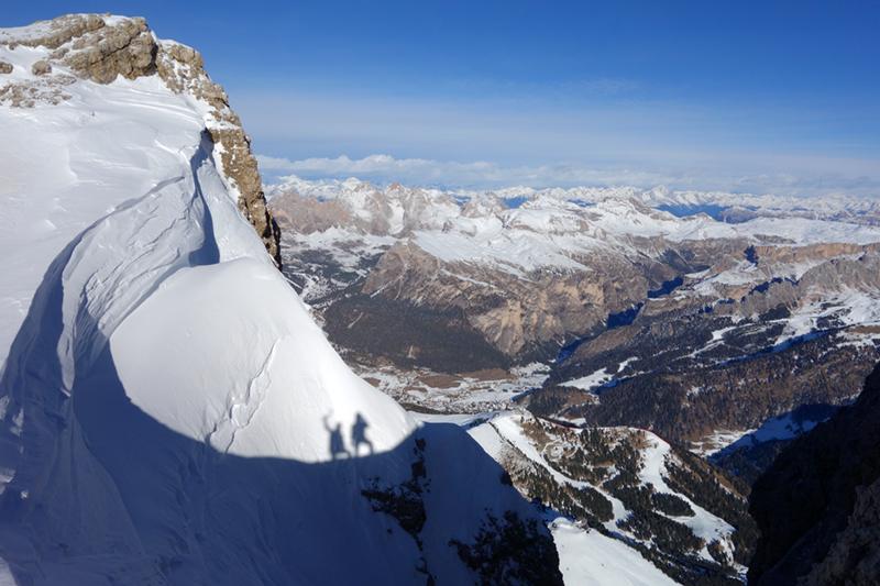 Schattenspiel kurz vorm Gipfel